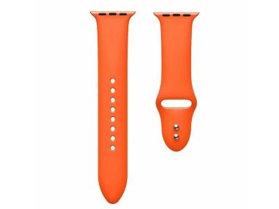 Силиконова каишка Dual Pin Buckle за Apple Watch Series 5 4 44mm, Series 3/2/1 42mm, Оранжев
