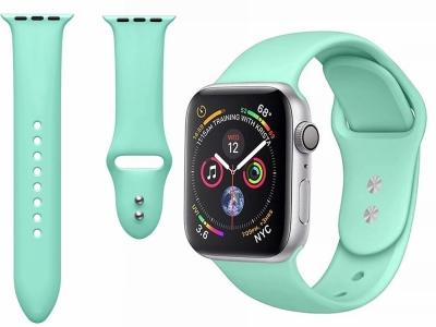 Силиконова каишка Dual Pin Buckle за Apple Watch Series 5 4 44mm, Series 3/2/1 42mm, Мента