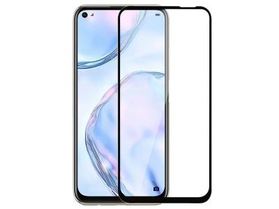 Стъклен протектор 5D Full Glue за Huawei P40 Lite 5G / Nova 7 SE, Черен