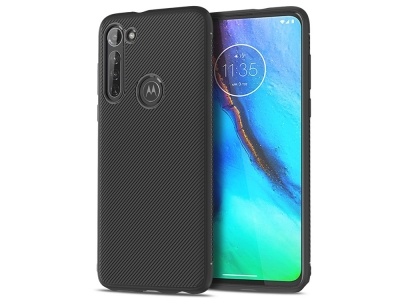 Силиконов Калъф Twill Texture за Motorola Moto G Stylus / G Pro, Черен