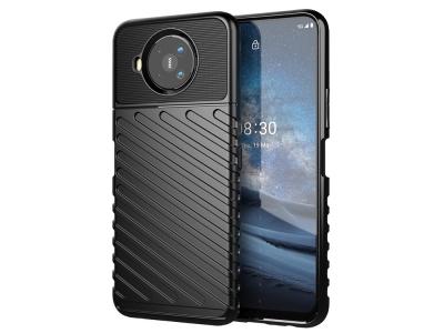 Силиконов Калъф Twill Texture за Nokia 8.3 5G, Черен