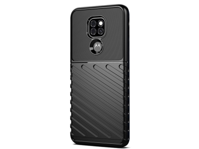 Силиконов Калъф Twill Texture за Motorola Moto G9 Play/G9 (India)/E7 Plus, Черен