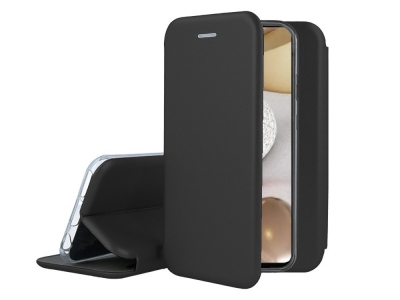 Калъф Тефтер ELEGANCE за Samsung Galaxy A12, Черен