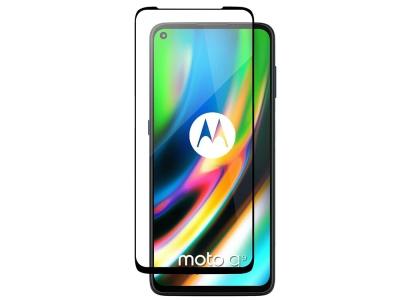 Стъклен Протектор 5D Full Glue за Motorola Moto G9 Plus, Черен
