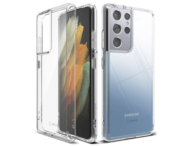 Силиконов калъф Jelly Roar за Samsung Galaxy S21 Ultra, Прозрачен