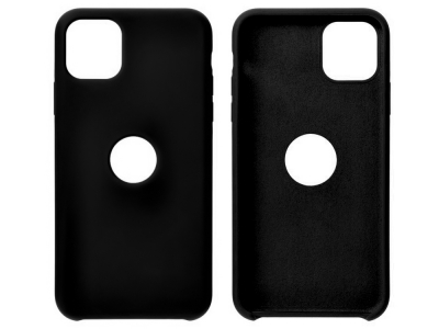 Калъф гръб LUX за iPhone 12 / 12 Pro with hole, Черен