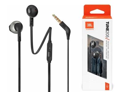 Аудио слушалки с кабел JBL T205, In-Ear, Pure Bass Sound, Микрофон, Черни 1