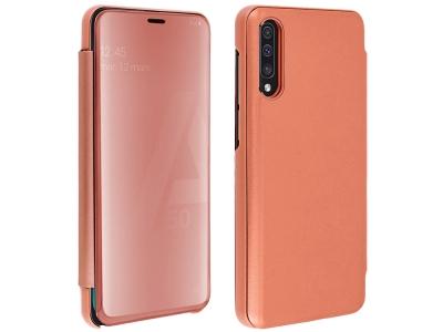 Калъф Тефтер View Window Mirror за Samsung Galaxy A50/A50s/A30s, Розово/ Оранжев