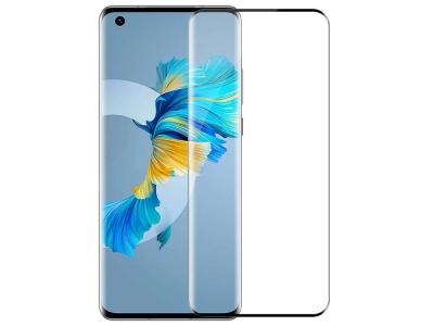 Стъклен протектор 5D Full Glue за Huawei Mate 40, Черен