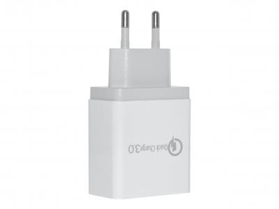 Адаптор 220v Tactical AR-QC-PD 2xUSB-A/USB-C QC 3.0 5.4 White