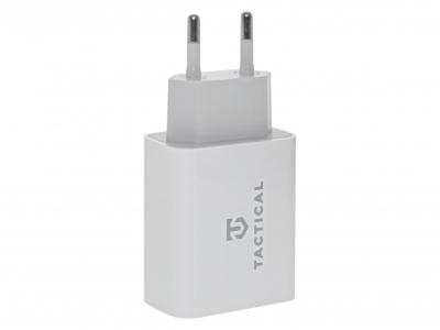 Адаптор 220v Tactical AR-PD-30W USB-A/USB-C QC 3.0 3.4A White