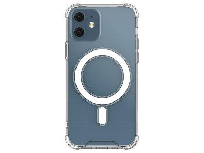 Удароустойчив Калъф MagSilicone за iPhone 12 mini, Прозрачен