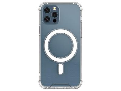 Удароустойчив Калъф MagSafe за iPhone 12 Pro Max, Прозрачен