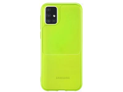 Силиконов калъф Window Case за Samsung Galaxy A51, Зелен-Жълт