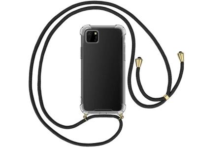 Силиконов калъф с връзка Cord Case за Huawei Y5p, Черна връзка