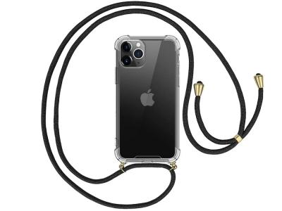 Силиконов калъф с връзка Cord Case за iPhone 11 Pro, Черна връзка