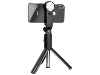 Селфи Стик с огледало SSTR-11 статив (Bluetooth дистанционно управление), Черен