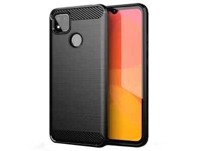 Силиконов калъф Carbon Fibre за Xiaomi Redmi 9C, Черен