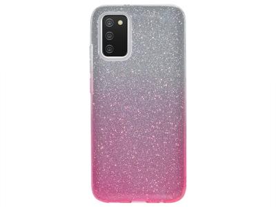 Силиконов калъф SHINING за Samsung Galaxy A02s, Сребрист/ Розов