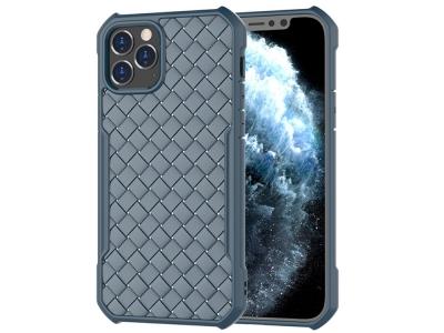 Силиконов калъф Knitting за iPhone 12/12 Pro, Син