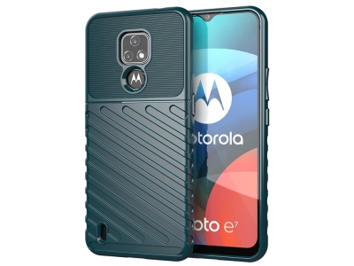 Силиконов Калъф Twill Texture за Motorola Moto E7, Зелен