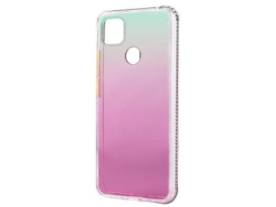 Удароустойчив калъф Gradient Color за Xiaomi Redmi 9C, Розов- Зелен
