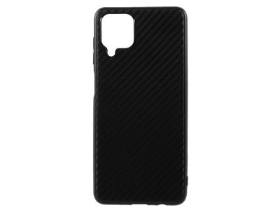 Силиконов Калъф Carbon за Samsung Galaxy A12, Черен