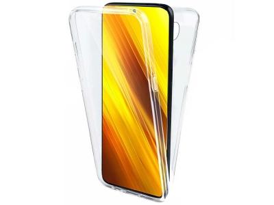 360 градуса калъф за Xiaomi Poco X3/Poco X3 NFC, Прозрачен