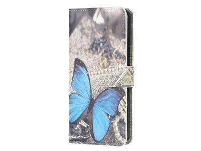 Калъф Тефтер за Xiaomi Poco X3 NFC / Poco X3, Синя пеперуда