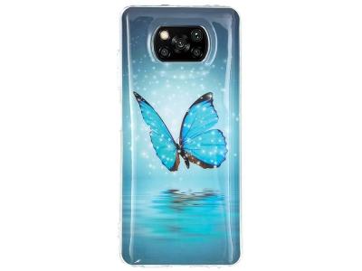 Силиконов калъф за Xiaomi Poco X3 NFC/X3 Soft Phone Cover, Синя пеперуда