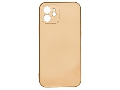 Силиконов Гръб Level за iPhone 12 / 12 Pro, Златист
