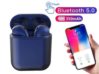 Слушалки TWS Macaron Bluetooth 5.0 Pop Up Toch Charging Box, Тъмно син