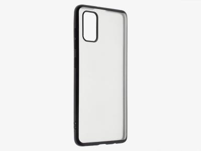 Силиконов гръб с лайстна Matte CLEAR за Samsung Galaxy A41, Черен