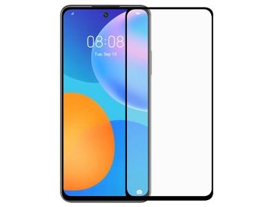 Стъклен Протектор 9D Full за Huawei P Smart 2021, Черен
