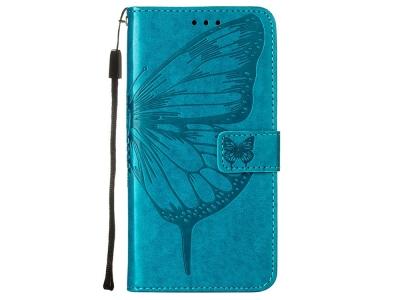 Калъф Тефтер за Motorola Edge S/Moto G100, Син с пеперуди