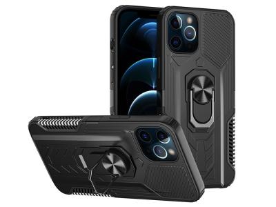 Удароустойчив калъф Kickstand за iPhone 12 Pro / iPhone 12, Черен