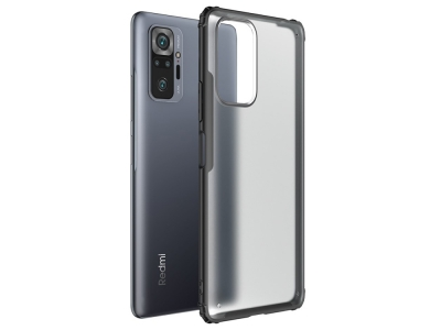 Удароустойчив калъфArmor Anti-fingerprint за Xiaomi Redmi Note 10 Pro, Черен