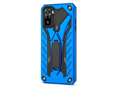 Удароустойчив калъф Kickstand за Xiaomi Redmi Note 10S / Note 10 4G, Син