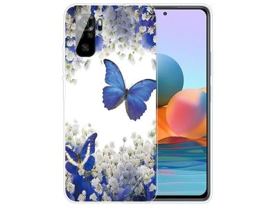 Силиконов калъф за Xiaomi Redmi Note 10 4G/10S, Цветя и пеперуди