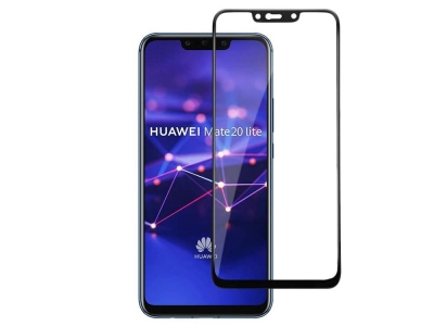 Стъклен Протектор 9D Full за Huawei Mate 20 Lite, Черен