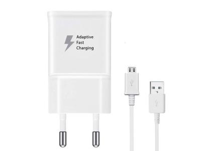 Оригинално зарядно SAMSUNG с кабел MICRO USB 1A (Bulk), Бял