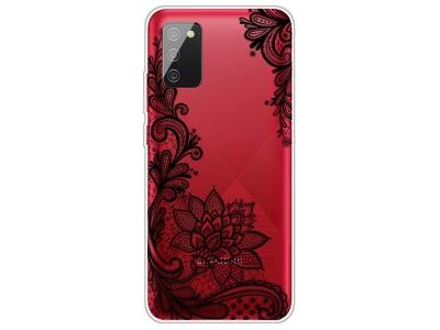 Силиконов калъф за Samsung Galaxy A02s, Дантелено цвете
