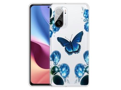 Силиконов калъф за Xiaomi Redmi K40 Pro / Redmi K40 / Mi 11i / Poco F3, Пеперуди