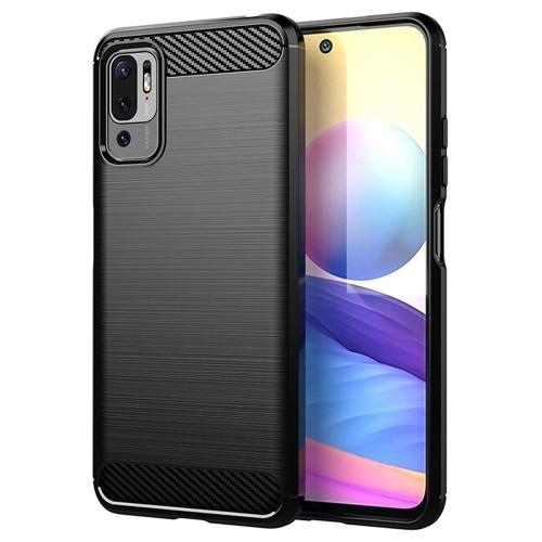 Силиконов калъф Carbon за Xiaomi Poco M3 Pro/Poco M3 5G/Redmi Note 10 5G, Черен