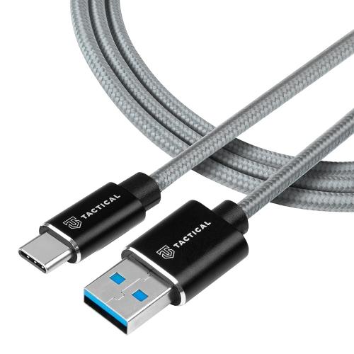 USB Кабел Tactical Fast Rope Kevlar USB-A/USB-C - SuperVOOC 2.0 CHARGE 1m Grey