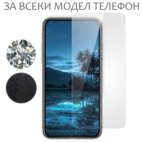 Хидрогел протектори SAMURAI с блясък Silver Diamond за всеки телефон