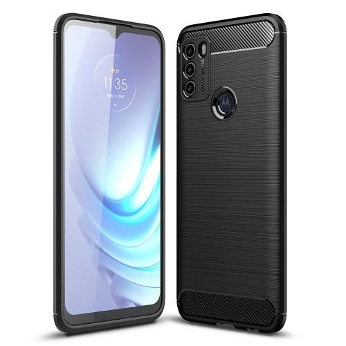 Силиконов Калъф Carbon за Motorola Moto G50, Черен