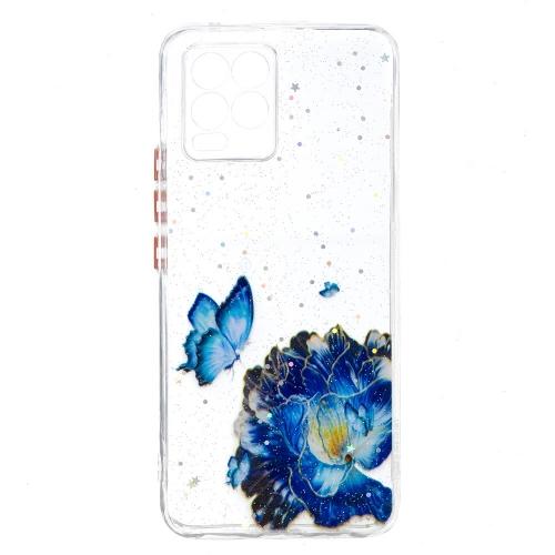 Удароустойчив Калъф Hard Acrylic + Soft TPU за Realme 8 / 8 Pro, Пеперуда