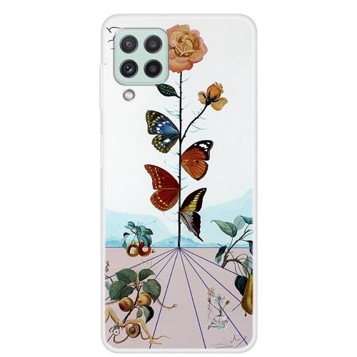 Силиконов калъф за Samsung Galaxy A22 4G, Цветя и пеперуди