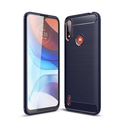 Силиконов Калъф Carbon за Motorola Moto E7 Power/Moto E7i Power, Син